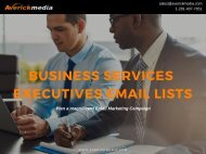 Business Services Industry Executives Email Lists