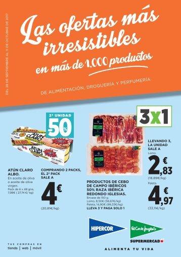 Folleto El Corte Inglés Supermercado del 28 de Septiembre al 11 de Octubre 2017