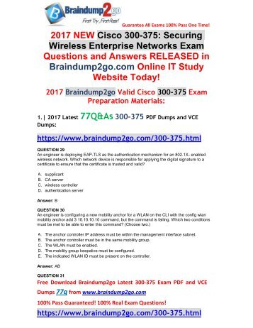 [2017-September-Version]New 300-375 PDF and 300-375 VCE Dumps 77Q&As Free Share(29-36)