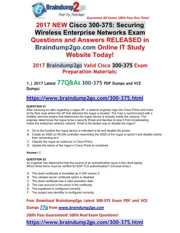[2017-September-Version]New 300-375 VCE and PDF Dumps 77Q&As Free Share(21-28)