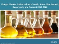Global Vinegar Market Share, Size Trends and Forecast 2017-2022