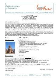 LFW-Studienreisen Ihr Reisepartner