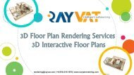3D Floor Plan Rendering Services, 3D Interactive Floor Plans