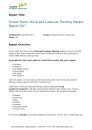 United States Wood and Laminate Flooring Market Report 2017