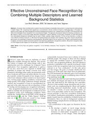 Effective Unconstrained Face Recognition by Combining Multiple ...
