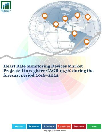 Heart Rate Monitoring Devices Market Projected to register CAGR 13.5% during the forecast period 2016–2024