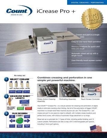 Count iCrease Pro Plus Digital Paper Creaser Machine - Printfinish.com
