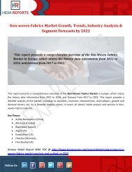 Non-woven Fabrics Market Growth, Trends, Industry Analysis & Segment Forecasts by 2022