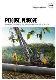 Volvo Rohrleger PL3005D Datenblatt Produktbeschreibung