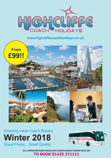 Highcliffe Coach Holidays - Winter Breaks 2018