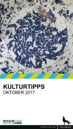 KulturTipps Oktober 2017