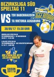 20170930 Fuggermärktler TSV 1862 Babenhausen - TG Viktoria Augsburg