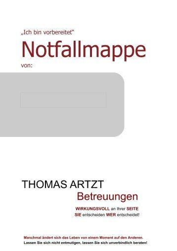 Thomas Artzt Notfallmappe
