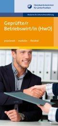 Broschüre Geprüfter Betriebswirt 2017