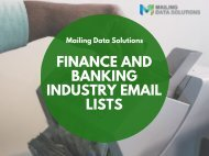 Finance and Banking Industry Email lists