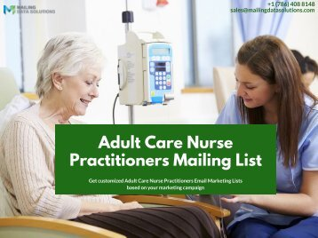 Adult Care Nurse Practitioners Mailing Lists