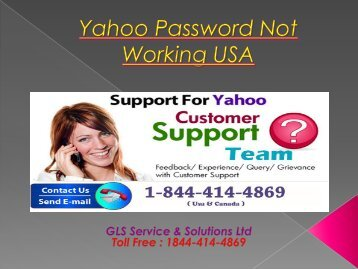 Yahoo Password Not Working USA