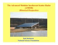 The Advanced Modular Incoherent Scatter Radar (AMISR) Historical ...