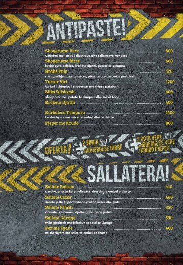 albanian menu