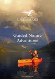 Wilderness Lodge Lake Moeraki - Guided Nature Adventures