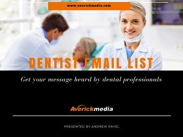 Dentist Email database