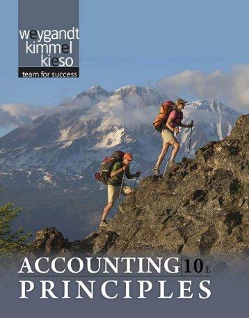 Accounting Principles 10e Textbook