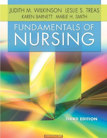 Fundamentals Of Nursing- 3 edition