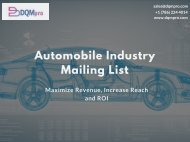 Automobile Industry Mailing List | Automotive Industry Email List