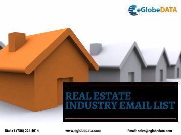 REAL ESTATE INDUSTRY EMAIL LIST