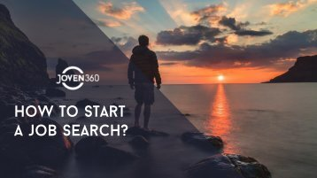 HOW TO START A JOB SEARCH_J360