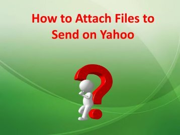 How to Attach Files to Send on Yahoo