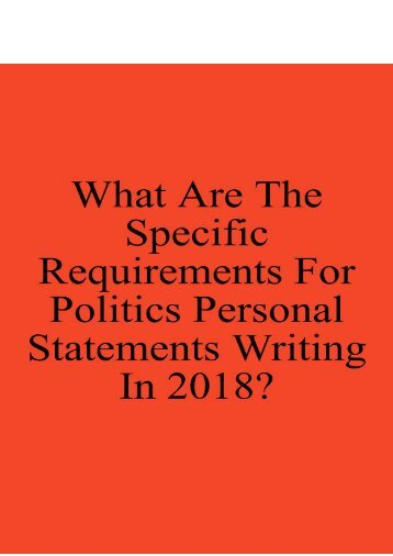 What Are the Specific Requirements for Politics Personal Statements Writing in 2018?