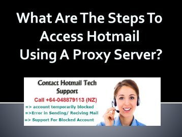 What Are The Steps To Access Hotmail Using A Proxy Server?