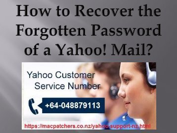 How to Recover the Forgotten Password of a Yahoo! Mail?