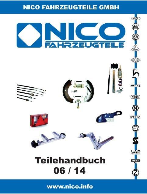 Knott Reparatursatz für Auflaufeinrichtung KF20 Kugelkupplung Dämpfer Faltenbalg