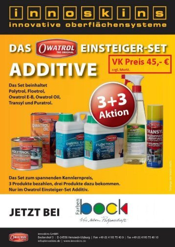 Innoskins Additive Aktion