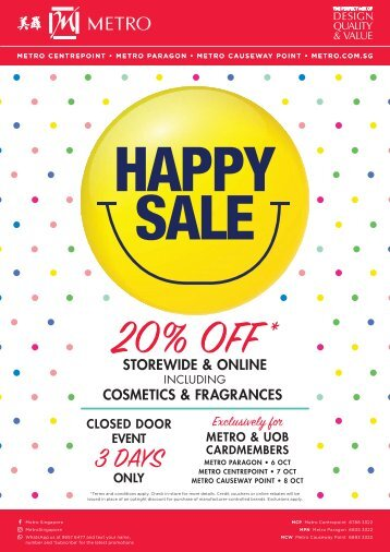 Metro Happy Sale Oct 2017 - Browse Now