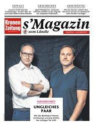 s' Magazin usm Ländle 01. Oktober 2017