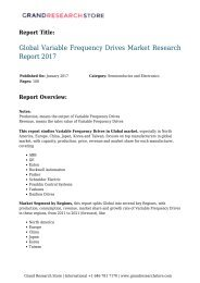 Global Variable Frequency Drives Market Research Report