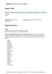 Global Womens Footwear Market Research Report 2017