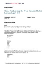 Global Woodworking Hot Press Machines Market Research Re