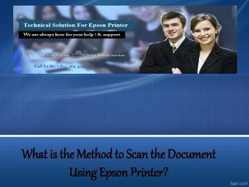 What is the Method to Scan the Document Using Epson Printer?