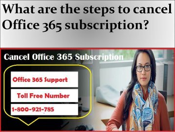 What are the steps to cancel Office 365 subscription?
