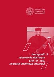 Książka_Odnowienie doktoratu_prof. A.S. Barczak