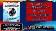 ALTERNATIVAS DE VIDA PARA JÓVENES DIFÍCLIES