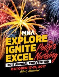 2017 Mississippi Nurses Association Annual Convention Yearbook