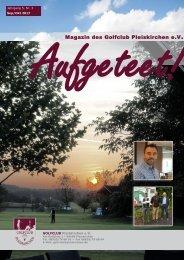aufgeteet! online Clubmagazin Golfclub Pleiskirchen e.V.