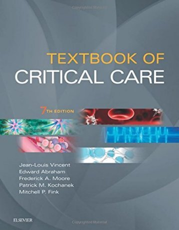 Textbook of Critical Care 7th Edition