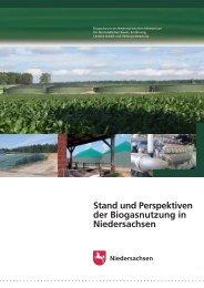 Stand und Perspektiven der Biogasnutzung in Niedersachsen