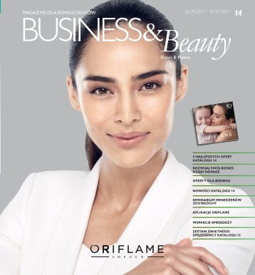 Oriflame Magazyn dla Konsultantek Business & Beauty Katalog nr 14 2017